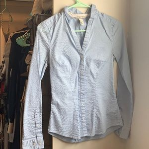 Light blue striped H&M women's button down